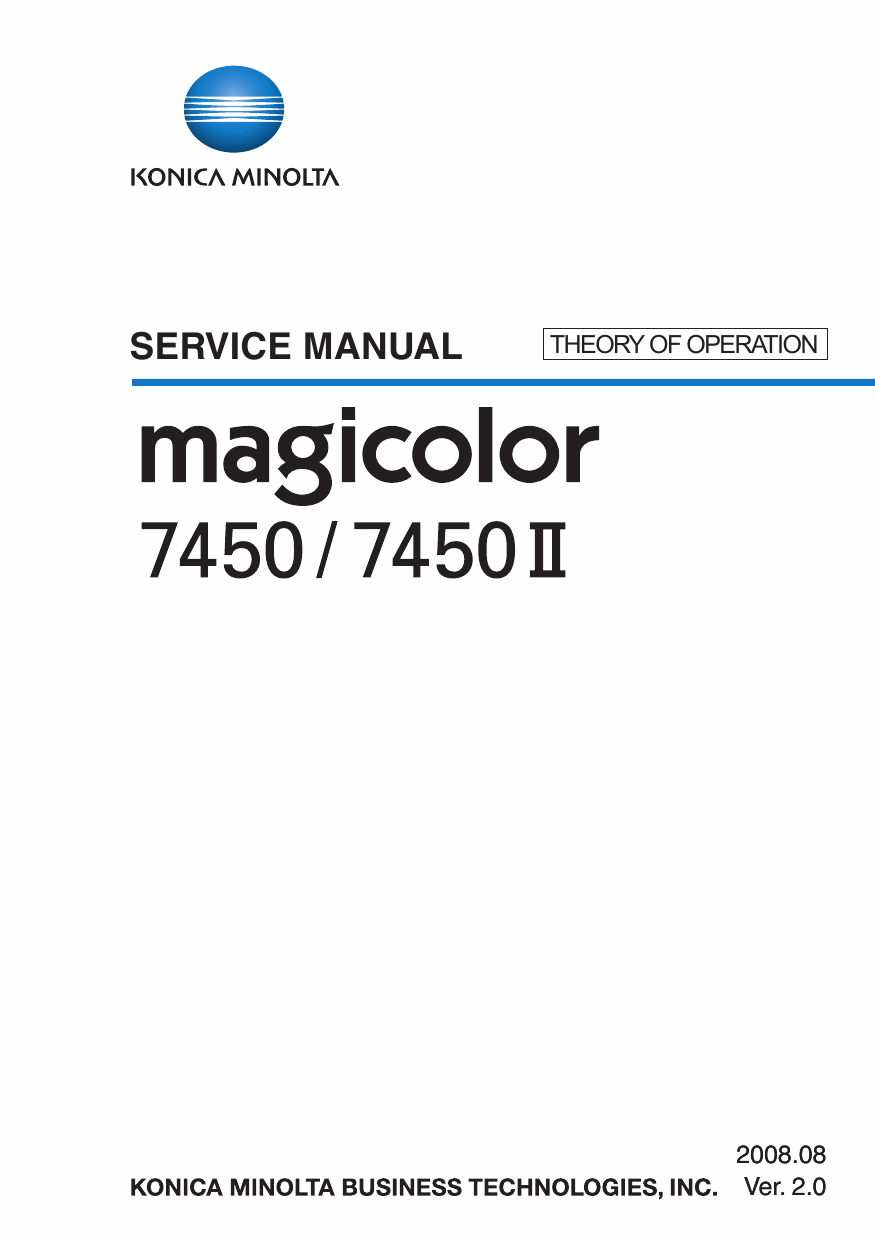 Konica-Minolta magicolor 7450 7450II THEORY-OPERATION Service Manual-1